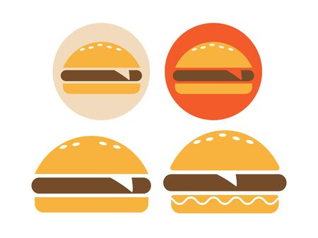 Burger icon   line style. Fast food icon. Burger vector silhouette  イラスト・ベクター素材