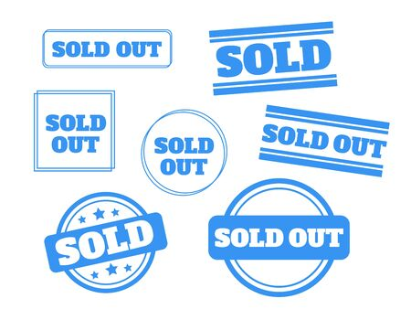 red sold stamp. Sold out stamps grunge. Sold out badge