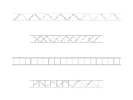Steel truss construction. Metal framework aluminum construction for billboard vector