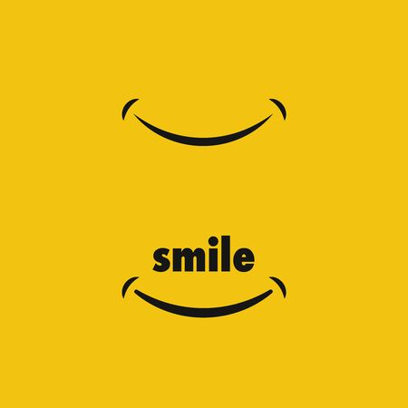 Smile icon vector symbol.   Happy sign  イラスト・ベクター素材