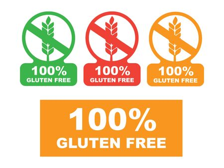 Gluten free label vector. Wheat gluten free grain icon Stok Fotoğraf - 131159803