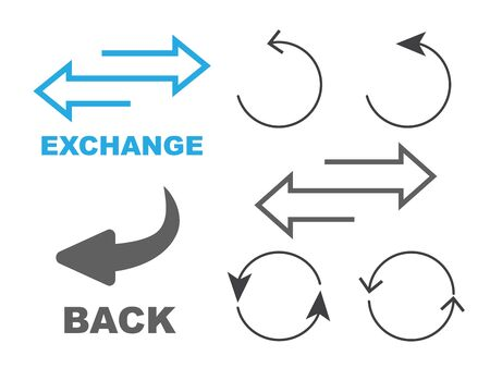 Exchange icon. Flip over or turn arrow. Reverse sign  イラスト・ベクター素材
