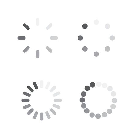 Loader progress icon. Sign progress bar. Circle wait icon  イラスト・ベクター素材