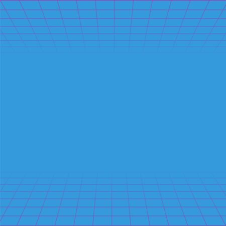 Wave retro grid background. Vapor wave vector neon game poster