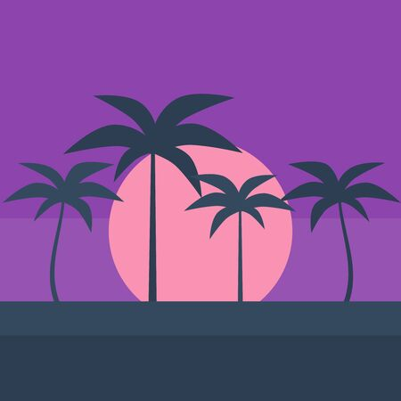 Retro grid background. Vaporwave background vector game neon poster