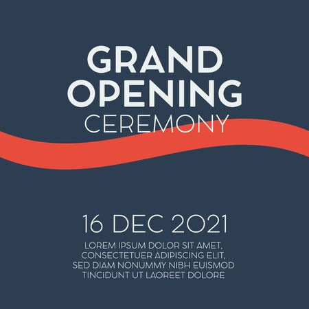 Grand Opening ceremony poster. Grand opening store template