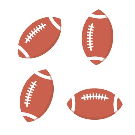 Rugby ball vector. Football american  Cartoon football ball