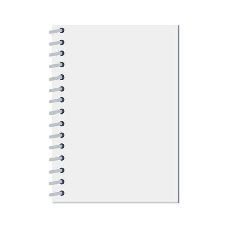 Realistic notebook design. Blank office document. Block book icon  イラスト・ベクター素材