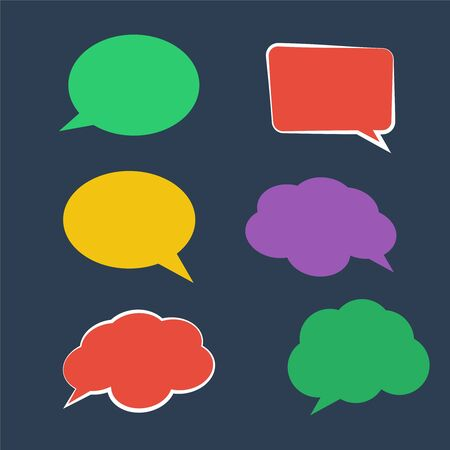 Paper Speech Bubble. Stickers of speech bubbles vector 向量圖像