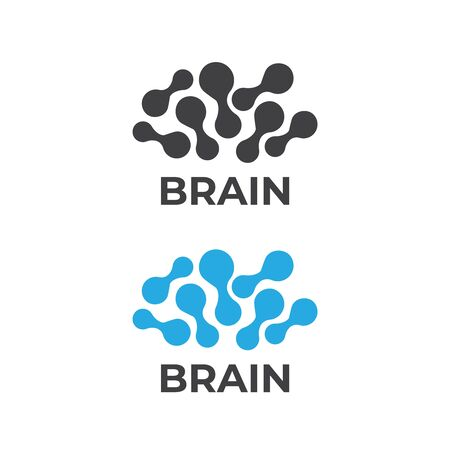 Brain logo and Creative logo. Abstract human brain logo  イラスト・ベクター素材