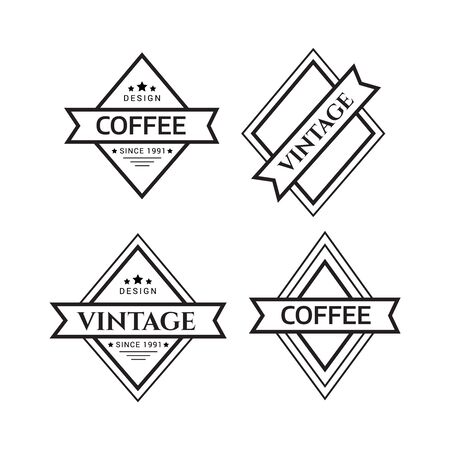 Vector logotypes elements collection. Vintage logo. Hipster label and logo Zdjęcie Seryjne - 134178032