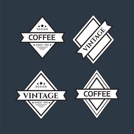 Vintage logo. Hipster label and logo. Vintage Logo set, retro design elements. Zdjęcie Seryjne - 134178034