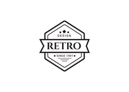 Vintage logo. Hipster label and logo. Vintage Logo set, retro design elements. Zdjęcie Seryjne - 134178036