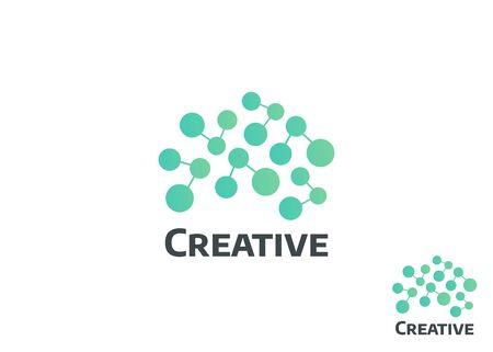 Brain logo and Creative logo. Abstract human brain logo