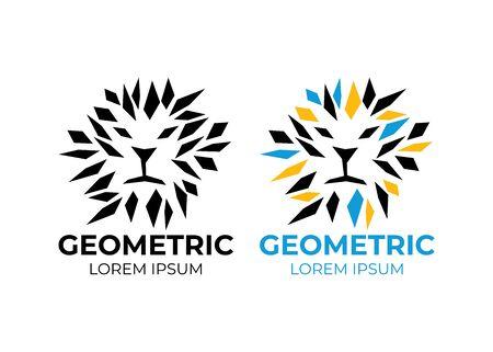Logo Lion vector. Abstract geometric Lion Logo. Creative animal logo