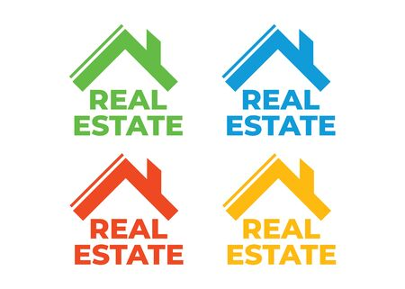 Logo of group homes or real estate. Real Estate, Building and Construction Logo Vector Design