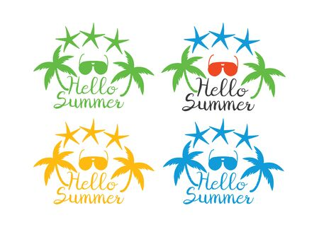 Summer holidays icon. Beach party and travel logo