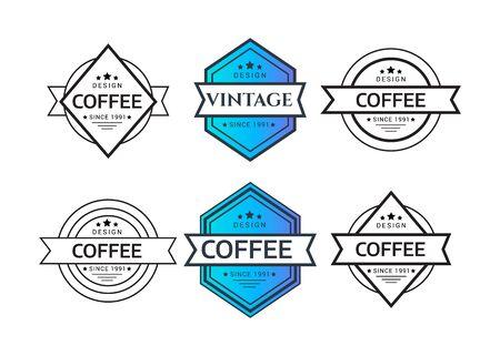 Vintage logo. Hipster label and logo. Vintage Logo set, retro design elements. Zdjęcie Seryjne - 134180426