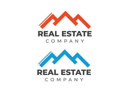 Real Estate Logo. Business card real estate template. Company or agent logotype
