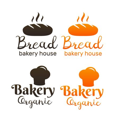 Bakery emblems. Handmade lettering cookie logo. Bakery and bread shop logos