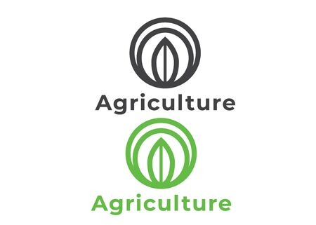Nature logo design. Agriculture abstract logo. Nature brand vector logo Çizim
