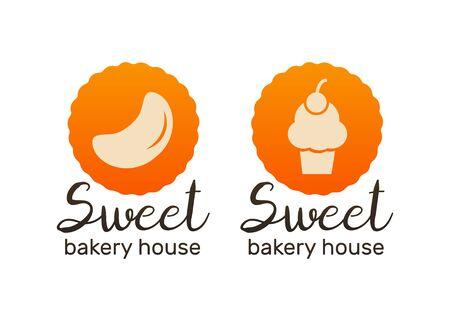 Bakery logo and icon. Bread logotypes. Bakery and bread shop logos Illusztráció