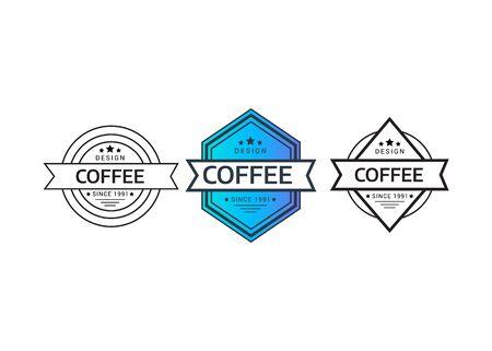 Retro style golden typographic logo. Vintage Logo set, retro design elements.