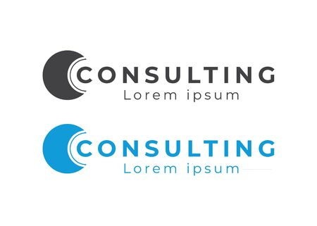 Consulting Logo Design. Speech vector logo. Consult logotype