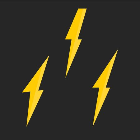 Lightning vector set. Bolt icon and lightning strike. Bolt logo 일러스트