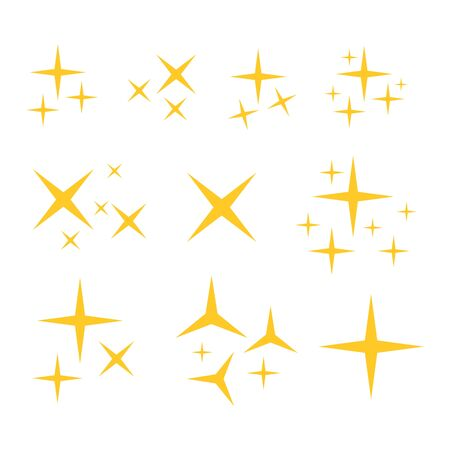 Sparkle icon. Sparlkes vector set. Star vector 일러스트