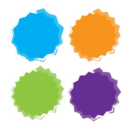 Different starburst vector. Starburst isolated icons set  イラスト・ベクター素材