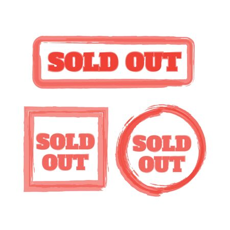 Sold out stamps grunge. Sold out badge Иллюстрация