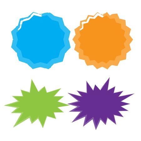 Set of vector starburst, sunburst badges. Starburst isolated icons set  イラスト・ベクター素材