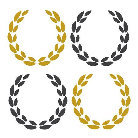 Best seller award logo. Vector illustration icons Logo