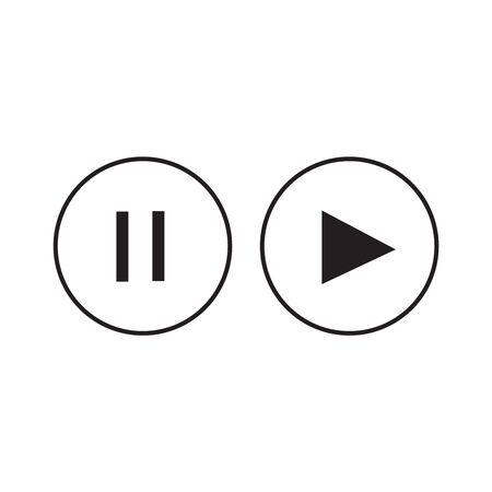 Play vector icon. Button play vector