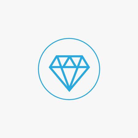 Diamond vector icons set. Brilliant vector icon
