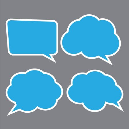 Vector set of speech bubbles. Stickers of speech bubbles vector Ilustracja