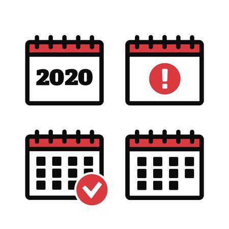 Vector calendar icons. Event icon. Calendar vector sign