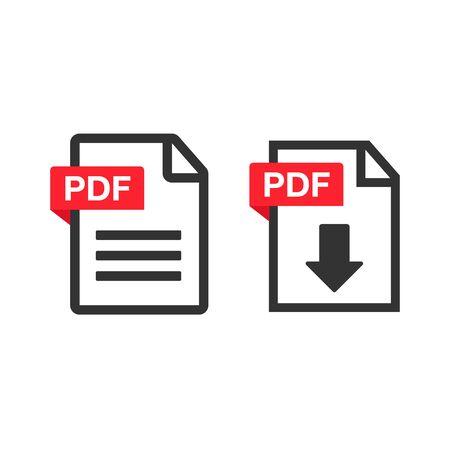 PDF Download icon. File download icon. Document text, symbol web format information Çizim