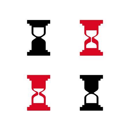 Sandglass flat icons vector. Sandglass animation frames. Time hourglass Çizim