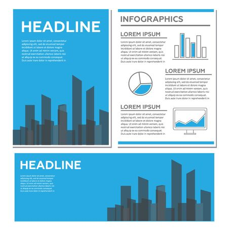 Creative Brochure Template Design with infographic chart. Flyer abstract template