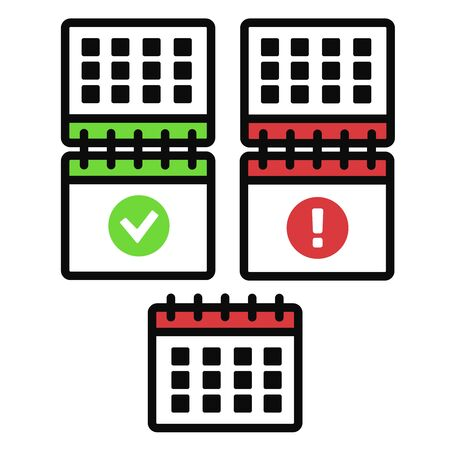 Program planner vector. Calendar vector sign Çizim
