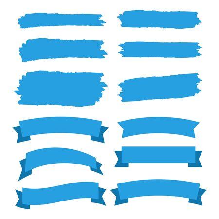 Vector ribbons set isolated. Banner ribbon vector set Çizim