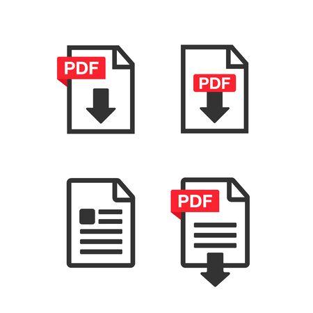 File Icons. File Icons line style illustration. Document icon set Çizim