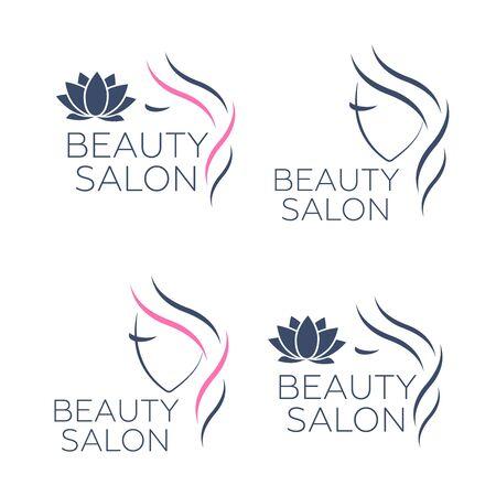 Beauty logo for hair salon. Logo hair vector Çizim