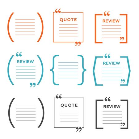 Quote comment template. Quote bubble vector