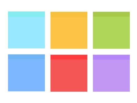 Multicolor notes . Colored sticky note set. Multicolor  notes isolated Çizim