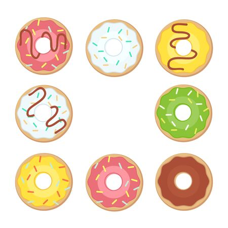 Donut vector. Donuts flat illustration. Donuts isolated icon