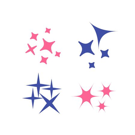 Icon star. Sparkles collection. Sparks vector icons set