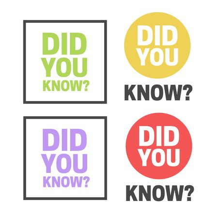 Did You Know badge vector. Did You Know question